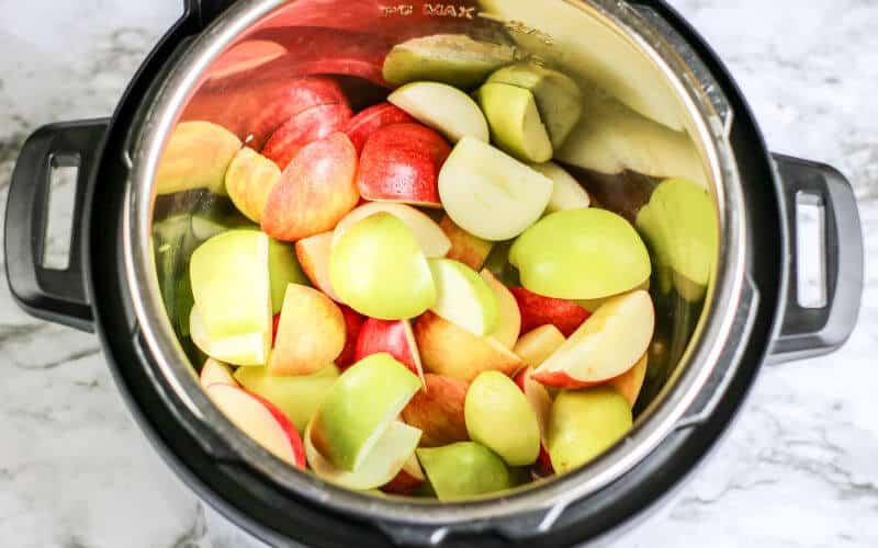 apples cut up for instant pot applesauce