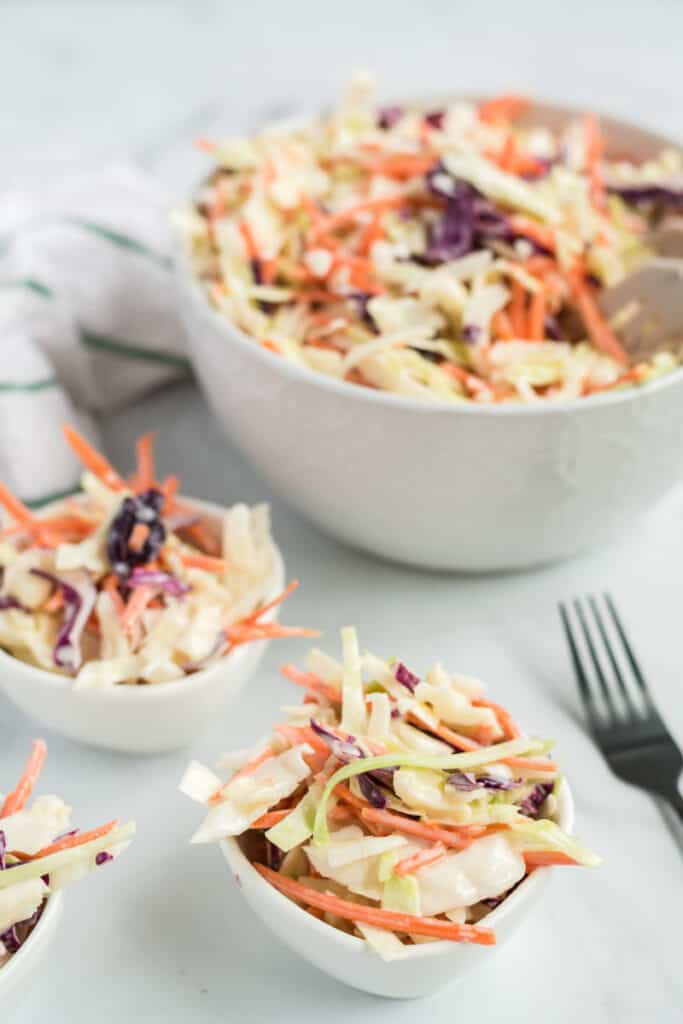 bowls of southern cole slaw