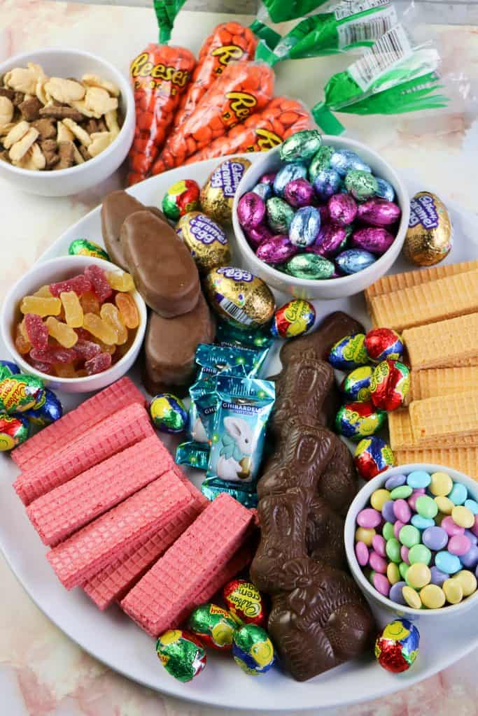 Easter candy charcuterie board