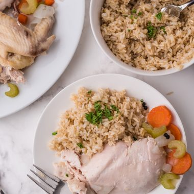 boiled chicken and rice