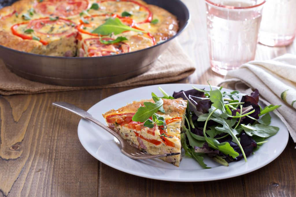 slice of Mexican frittata