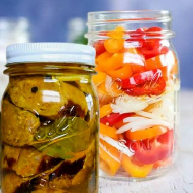 pickled sausage and peppers