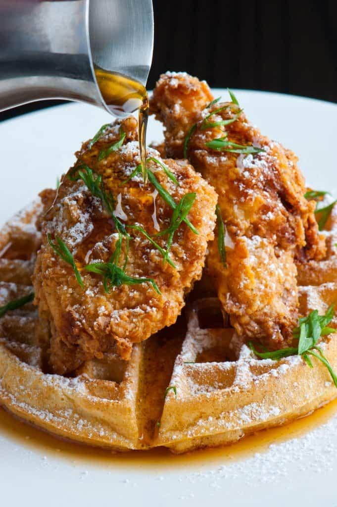 fried chicken and buttermilk waffles