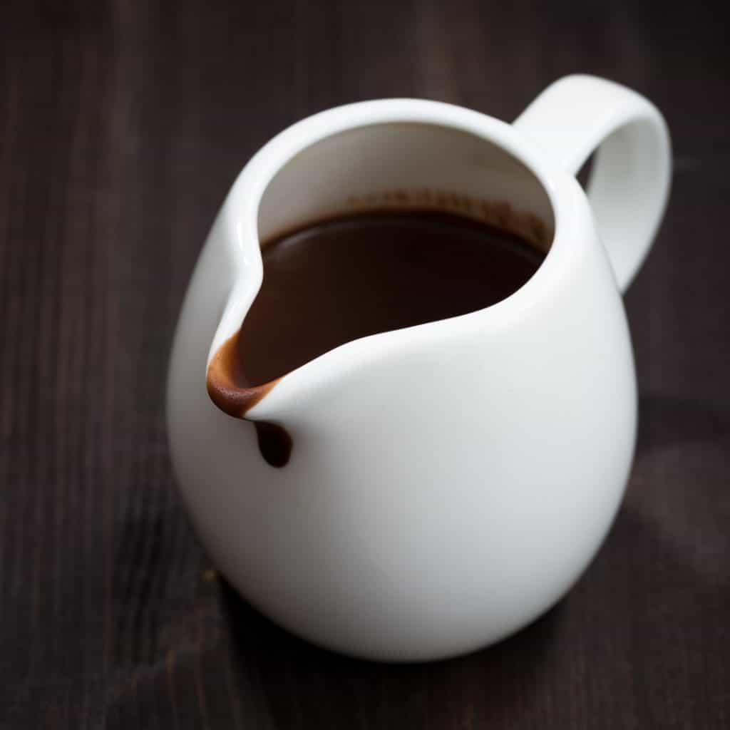 pitcher of chocolate gravy