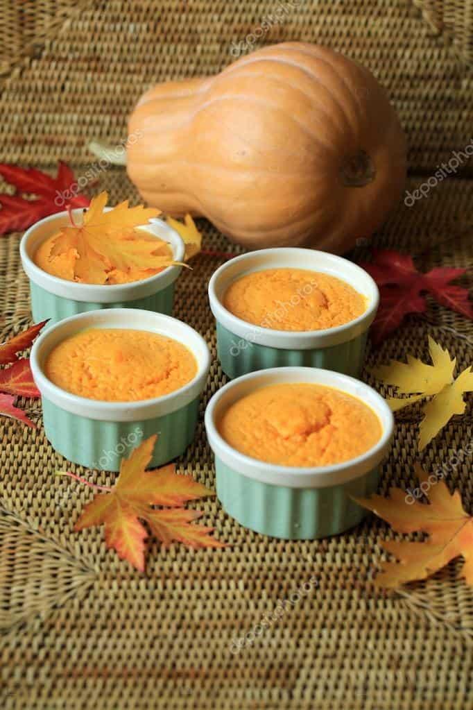4 pumpkin casserole souffles