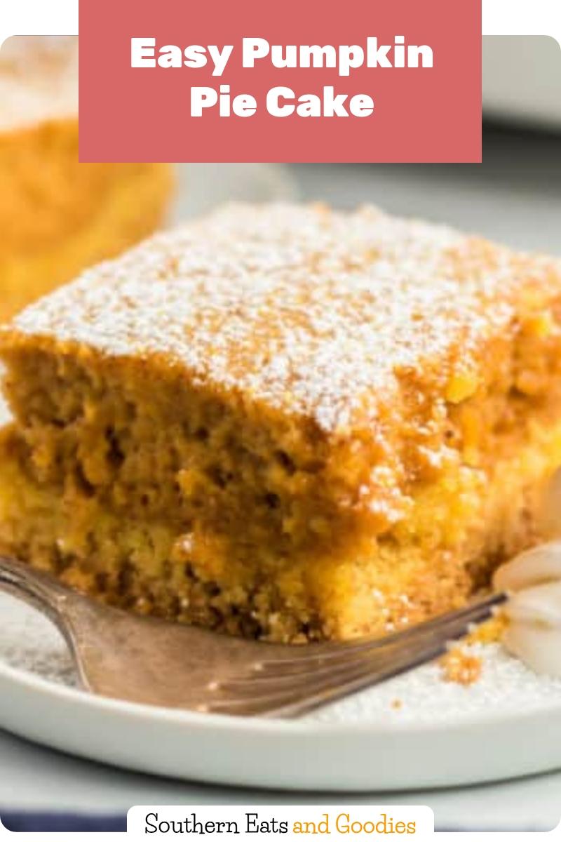 Easy Pumpkin Pie Cake